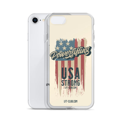 iPhone Case, Powerlifting USA Strong