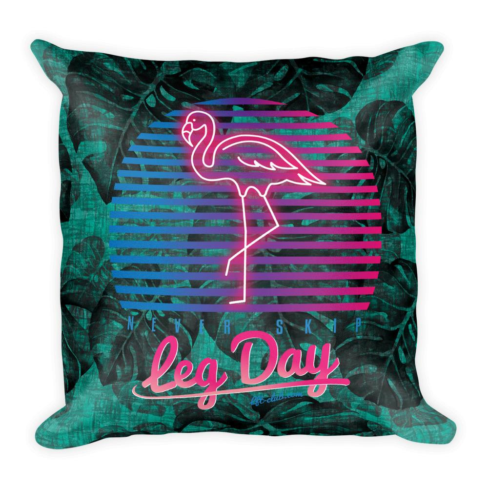 Throw Pillow, Never Skip Leg Day