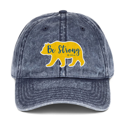 Snow-Washed Vintage Cotton Twill Cap, Bear