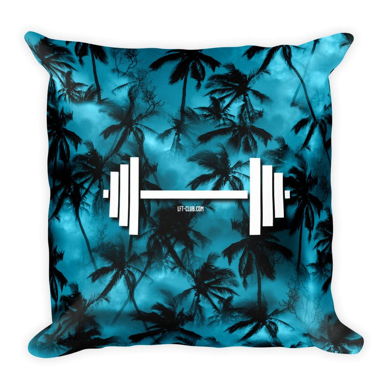 Throw Pillow, Barbell Tropical
