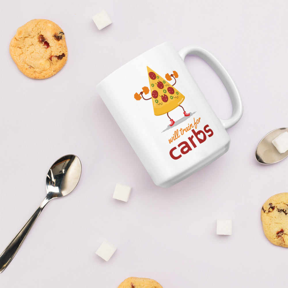 Will Train for Carbs Mug