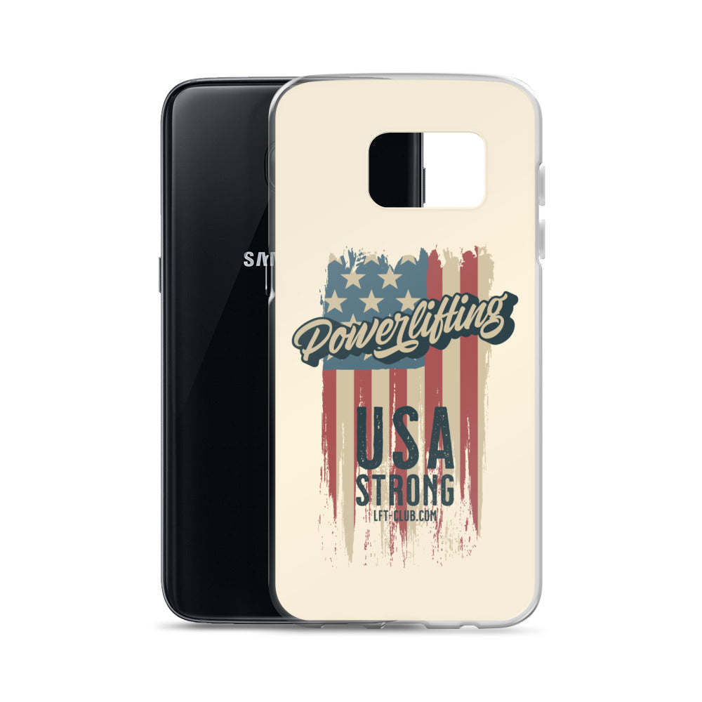 Samsung Case, Powerlifting USA Strong