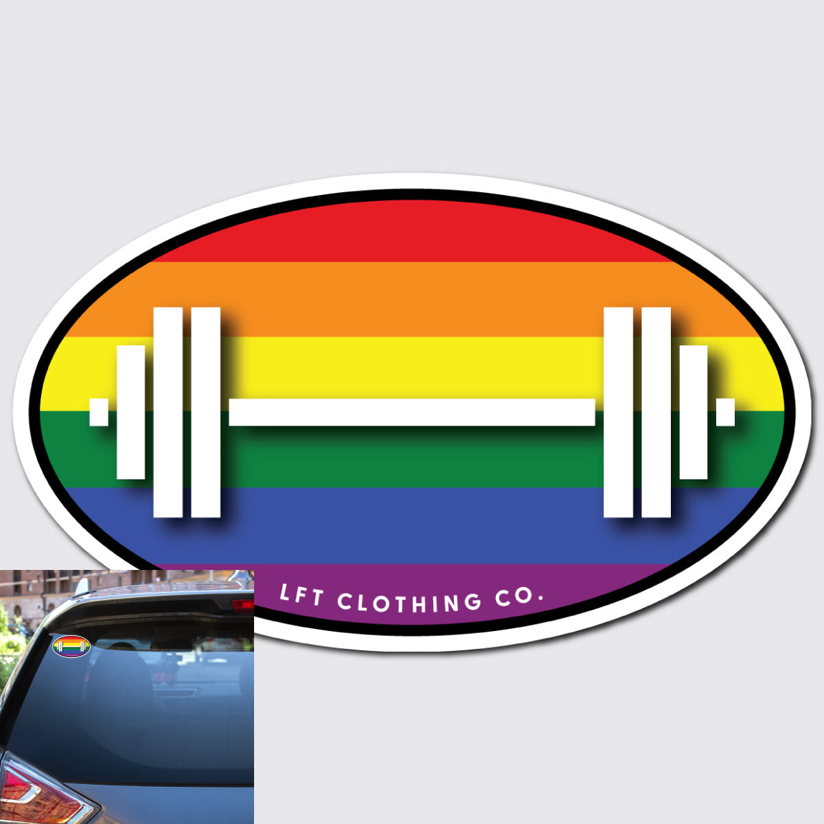 Pride Barbell Sticker