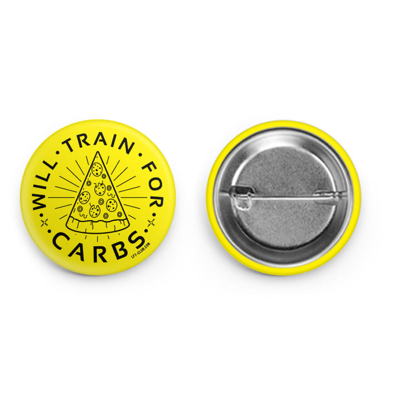 Will Train for Carbs Button