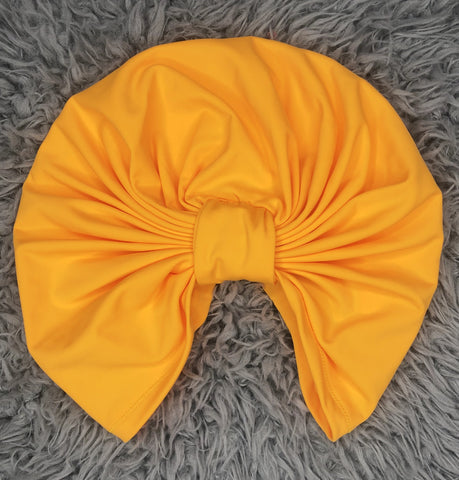Knotted turban in Butterscotch