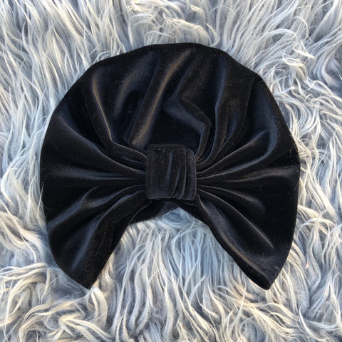 Head wrap in Onyx - Black Velvet - Limited Edition