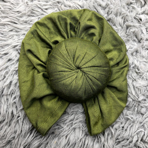 Top knot turban in the color Pea Green baby turban Little Miss turbans