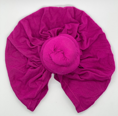 Top knot headband in magenta beautiful stylish double knot turban