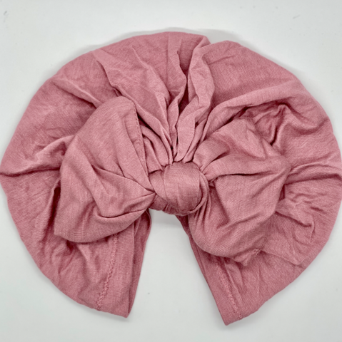 Blush Bow Turban