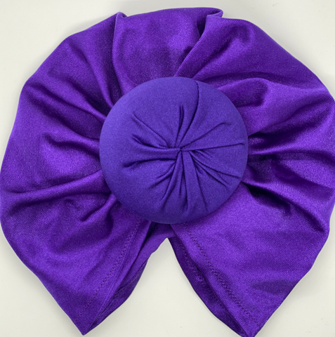 Twist knot headband Purple Amethyst Doughnut - Limited Edition littlemissturbans