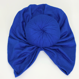 Knotted turban Headband Royal Blue Turbans Little Miss Turbans