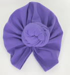Knotted headwrap in Mauve Limited Edition