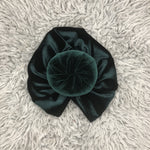 Hair turban in beautiful Jade - Green Velvet - Limited Edition