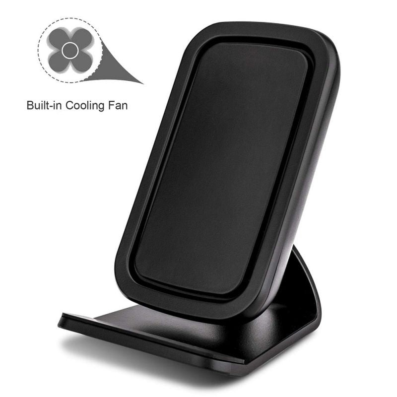 QI Wireless Charger 10/7.5/5W Cellphone Fast Charging Desk Stand With Cooling Fan For IPhone XS/XR/XS Max/X/8/8 Plus For Samsung
