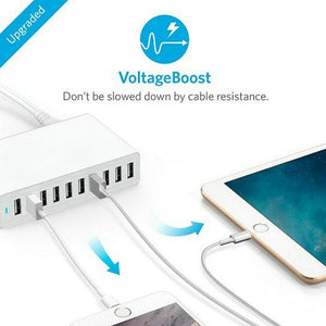 Multi Ports 10-Port USB Charger Adapter 50W 10A Wall Charger For Cellphone Pad Portable Charger For Xiaomi Samsung Galaxy S8 S9