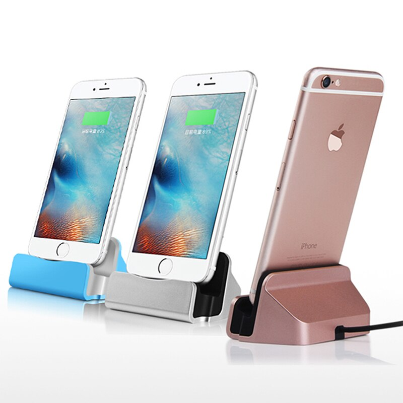 Hot Sale Sync Data Charging Dock Station Cellphone Desktop Docking Charger & USB Cable For Apple iPhoneX 5 6s 7Plus 8 iPhoneXS