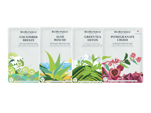 BioRepublic On The Glow Kit mini - 4 Sheet Mask Set - Koreansk sheet mask