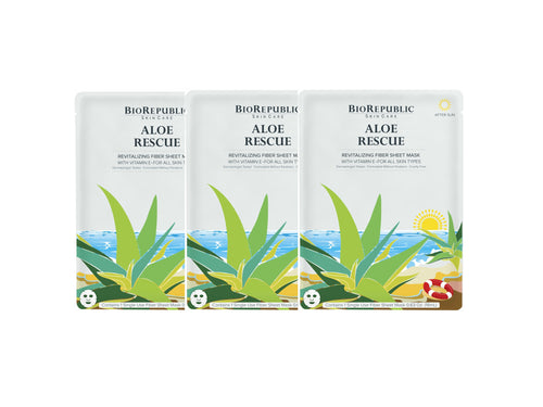 Aloe Rescue Revitalizing Sheet Mask - Set of 3 - sheet mask | Ansiktsmask | Hudvård