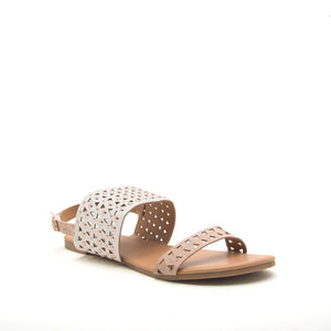 Ivory & Tan Sandals
