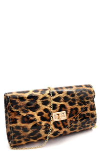 Leopard clutch bag