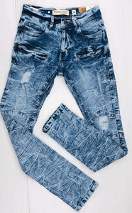 Stretch light blue jeans