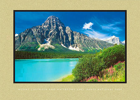 Mount Chephren and Waterfowl Lake, Banff National Park