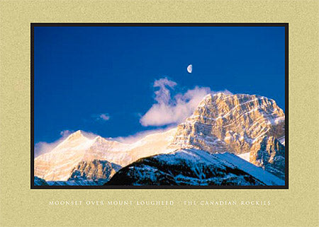 Moonrise over Mount Lougheed, The Canadian Rockies