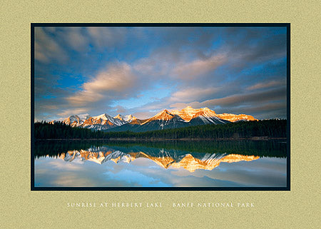 Sunrise at Herbert Lake - Banff National Park