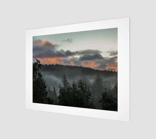 Sunset in the Fog 11x14 Fine Art Print from Engrooved Splash Productions located in British Columbia, Canada.