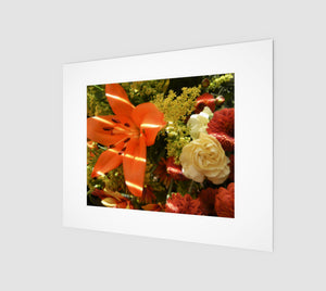 Autumn Flowers 8x10 Art Print from Engrooved Splash Productions located in British Columbia, Canada.