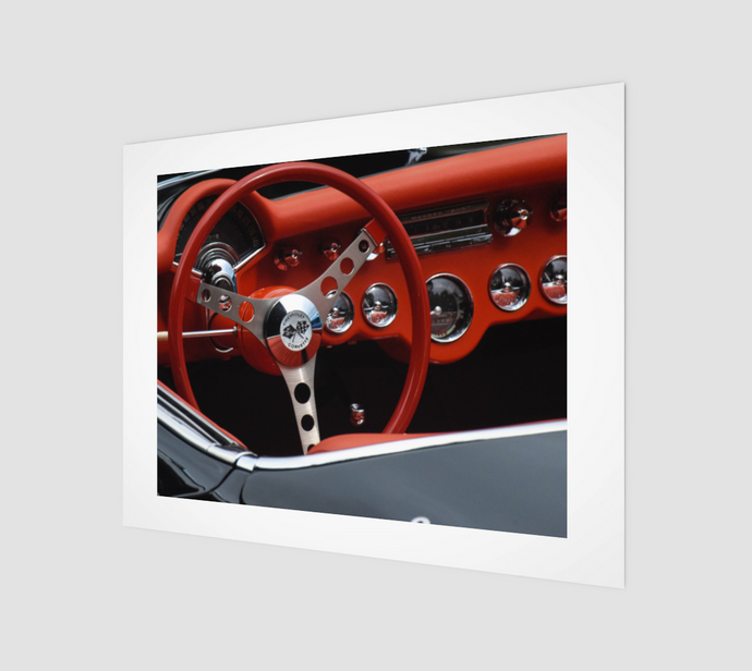 Corvette Dash 11x14 Art Print from Engrooved Splash Productions located in British Columbia, Canada.