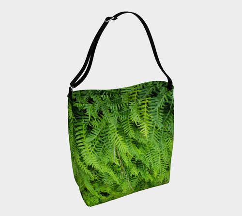 Fern Tote Bag available at Engrooved Splash located in British Columbia Canada.