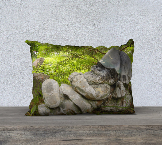Garden Gnome Pillow Case designed by Engrooved Splash Productions located in British Columbia, Canada.