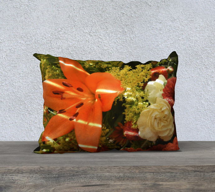 Autumn Flowers Pillow Case designed by Engrooved Splash Productions located in British Columbia, Canada.