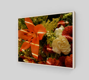Autumn Flowers 8x10 Wood Print from Engrooved Splash Productions located in British Columbia, Canada.