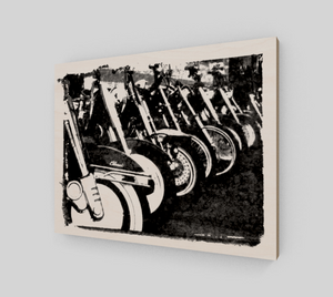 Classic Harley 11x14 Wood Print from Engrooved Splash Productions