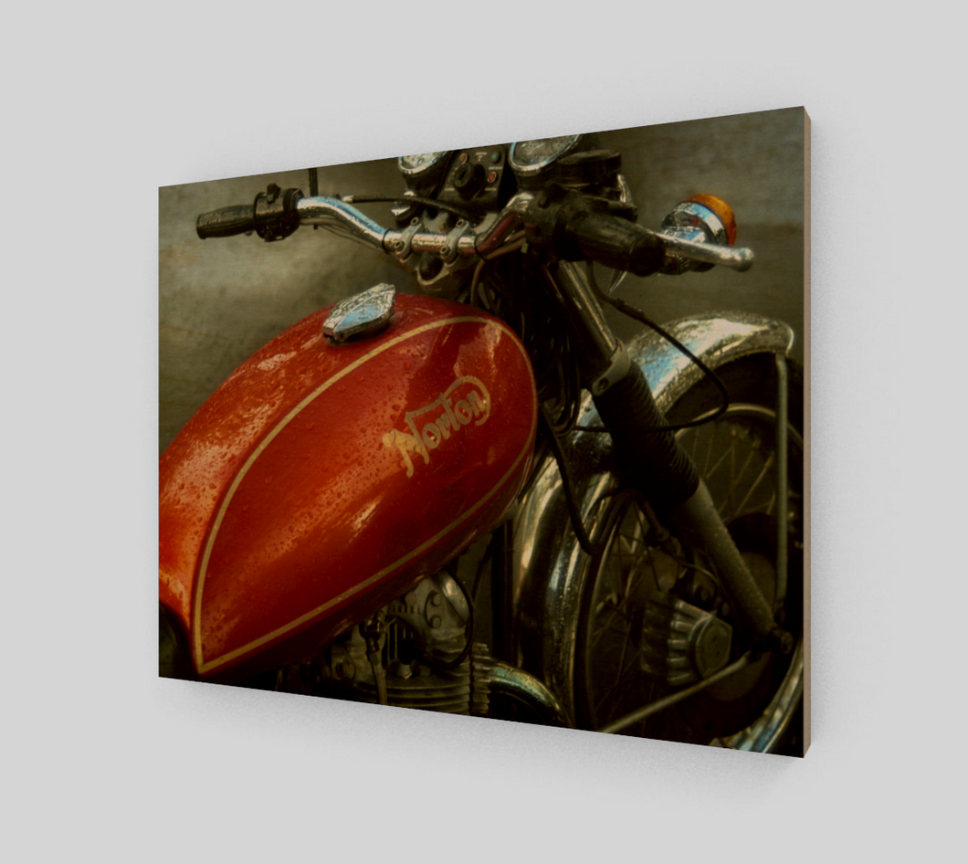 Norton 11x14 Wood Print from Engrooved Splash Productions located in British Columbia, Canada.
