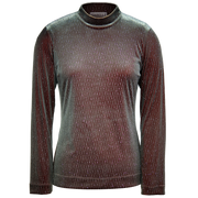 Glittering long-sleeved stretch top