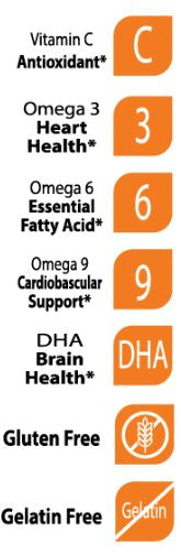 Halal Omega with DHA for Kids - Support Brian Development - 60 Gummies