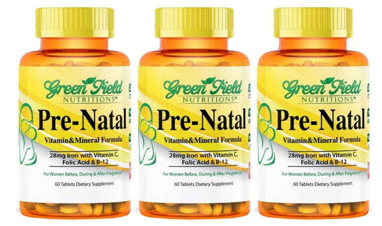 Halal Prenatal Multivitamin with DHA and Iron from Greenfield Nutritions