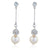 Paulette Rhodium & Pearl Earrings