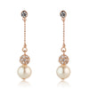 Paulette Rose Gold & Pearl Earrings