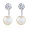 Grazia Rhodium & Pearl Earrings