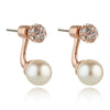 Grazia Rose Gold & Pearl Earrings