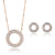Adelynn Rose gold Necklace & Earring Set