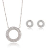 Adelynn Silver Necklace & Earring Set