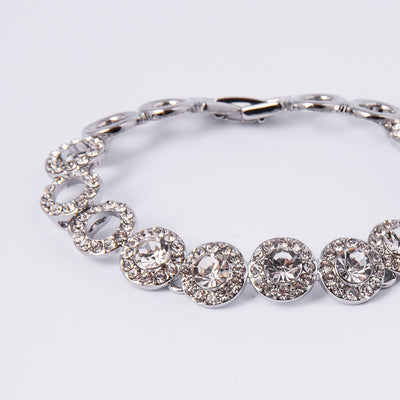 Crystal Star Rhodium Bracelet