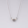 Maya Rhodium Long Necklace