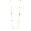 Crystal Star Long Gold Necklace