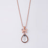 Bow & Teardrop Necklace